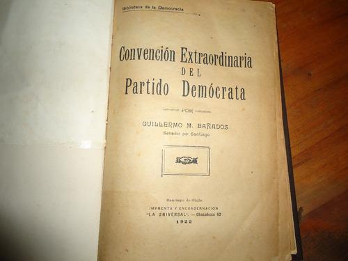 convencion extraordinaria del partido democrata