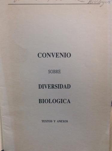 convenio sobre diversidad biológica