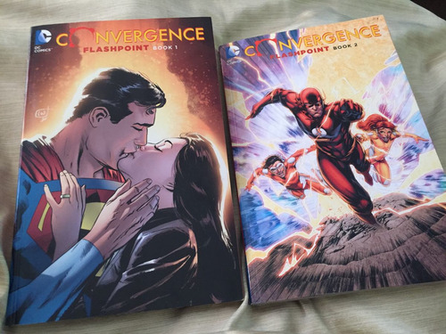 convergence flashpoint book 1 & 2 dc comics batman superman