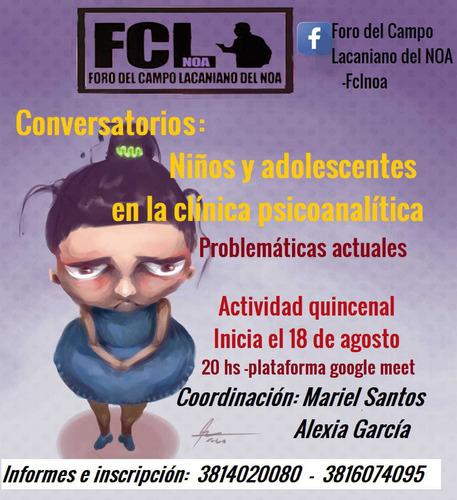 conversatorios:niños y adolescentes en la clínica psico.