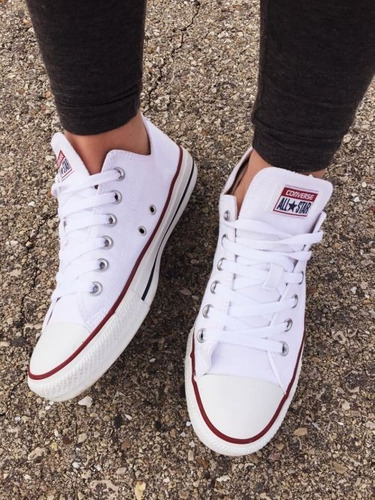 converse all star blanco choclo