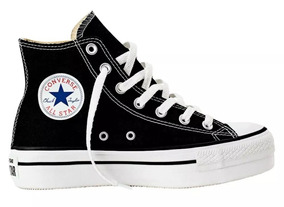 converse all star altas mujer negras