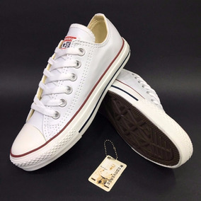 all star converse blancas cuero