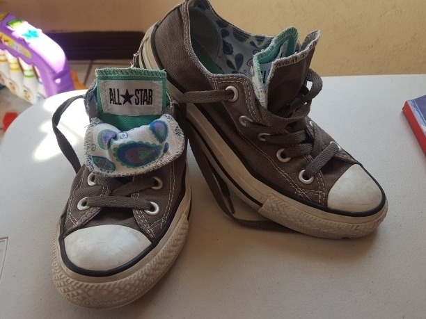 converse all star gris mujer