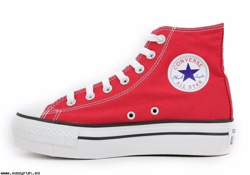 converse all star plataforma rojas