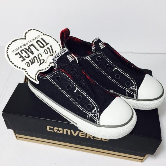 bf9716ff Converse All Star Zapatillas Sin Cordones Niño/a Negro Arg24 ...