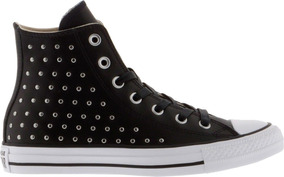 0c50f3055f2 Zapatillas Converse Negras De Cuero Con Tachas - Zapatillas en ...
