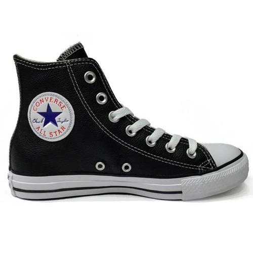 converse chuck taylor all star hi zapatillas cuero negras