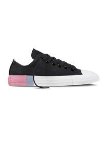 c35456eb9 Converse De Mujer Ctas Color Block Negro Rosa Blanco 2574387