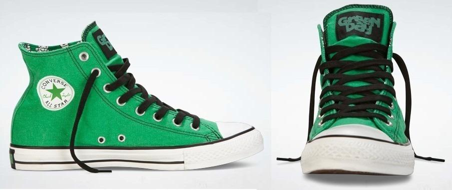 Converse Green Day 100% Originales 3 -   980.00 en Mercado Libre f4eff66d9