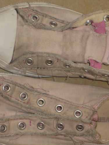 converse rosa palido nro 3 (aprox 38) sin cordones