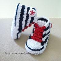 converse tejidas de bebe