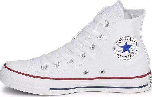 converse zapatilla unisex chuck taylor all star hi blanca