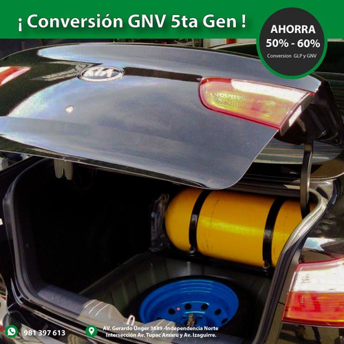 conversion gnv glp 5ta gen - original y garantia real*