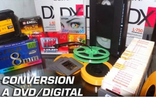 conversion vhs hi8 minidv super8 mp4 dvd betamax dvd mp4 8mm