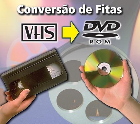 conversão de fitas vhs (vídeo cassete) para dvd ou arquivo