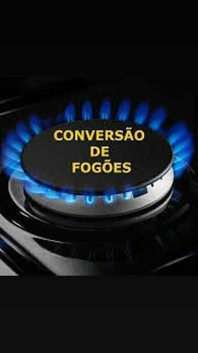conversão e instalação de fogão cooktop aquecedor a gás