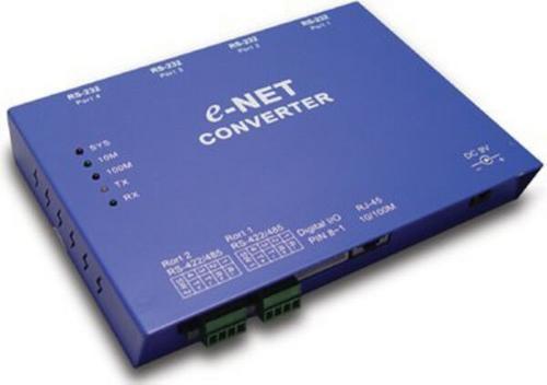 conversor 4 conexiones seriales rs-232/422/485  a ethernet