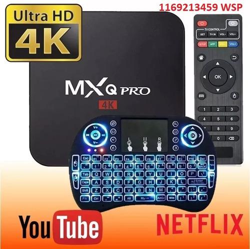 conversor a smart tv box android mini 2gb netflix + teclado