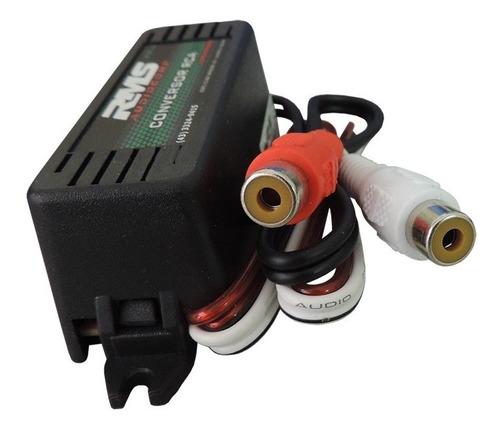 conversor adaptador de fios para rca com antirruído rms