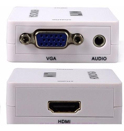conversor adaptador hdmi a vga activo con audio local 1junta