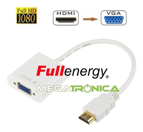 conversor adaptador hdmi a vga laptop ps3 hd proyector video