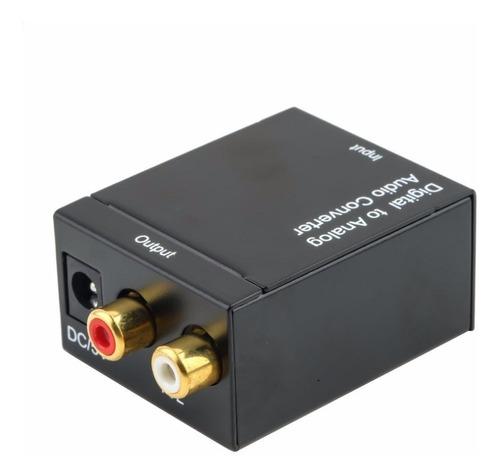 conversor adaptador ótico toslink e coaxial digital x rca
