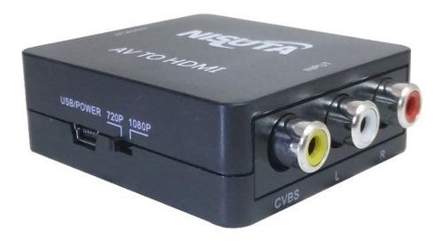 conversor adaptador rca a hdmi directv consolas video vhs