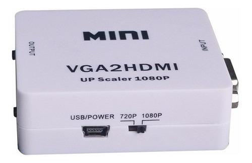 conversor adaptador vga a hdmi 1080p full hd
