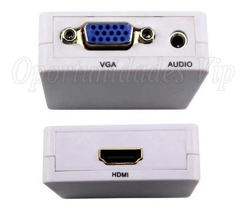 conversor adaptador vga hdmi audio video