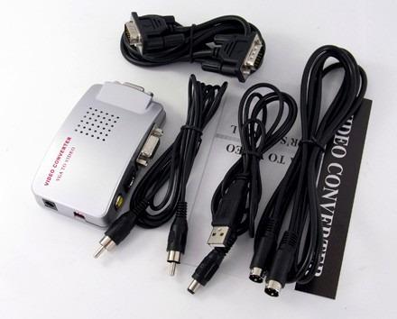 conversor adaptador video vga in para s-video rca vga out