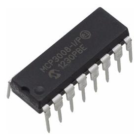 Conversor Analógico Digtal Mcp3008-i/p 8 Ch 10-bit Spi