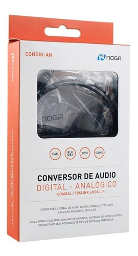 conversor audio digital a rca coaxial toslink analógic noga