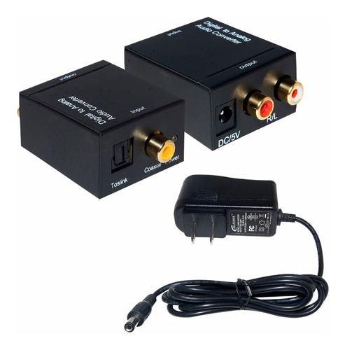 conversor áudio digital cabo óptico ou coaxial p/ rca analog