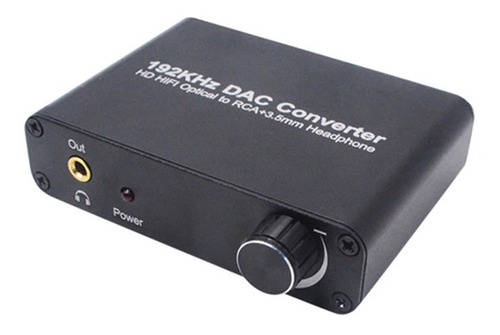 conversor audio digital con volumen 192khz optico 3.5mm rca