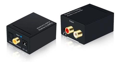 conversor audio digital óptico a rca 3.5mm audifonos | dfast