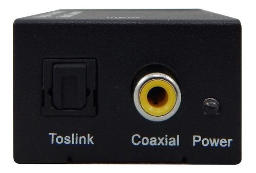 conversor áudio digital óptico p/ analógico rca com cabos