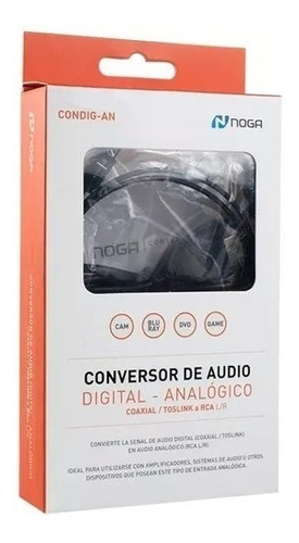conversor audio digital optico toslink a jack rca analogico