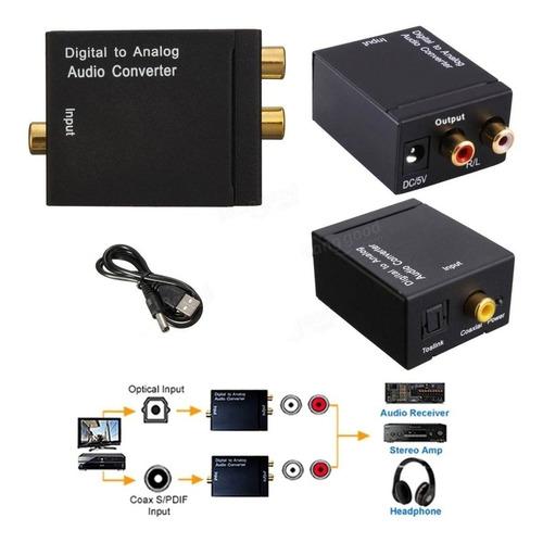 conversor audio digital optico toslink a rca analogico