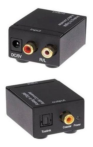 conversor audio digital optico toslink analogo rca