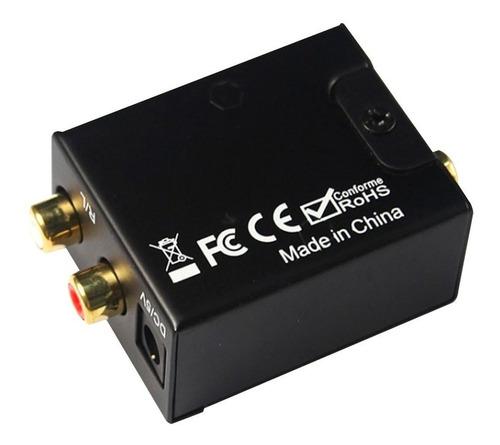 conversor audio digital rca c cable toslink analogico