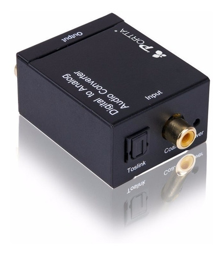 conversor áudio óptico digital fibra/coaxial p/rca analógico