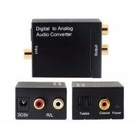 conversor convertidor adaptador audio optico coaxial a rca