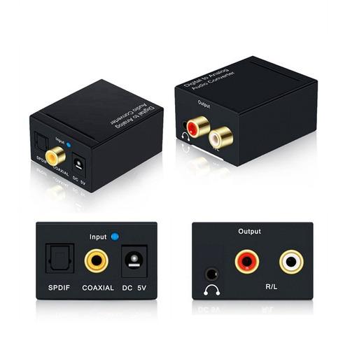 conversor de audio digital a rca cable optico 3.5mm | dfast