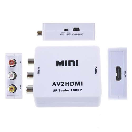 conversor de hdmi para video adaptador composto 3rca av