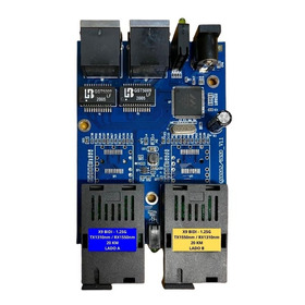 Conversor De Mídia -  Switch Fibra X9 Até 20 Km - 2sc/2ge
