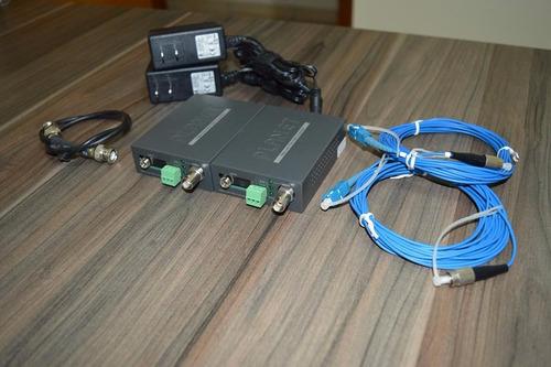 conversor de vídeo sobre fibra - vf102 kit completo planet