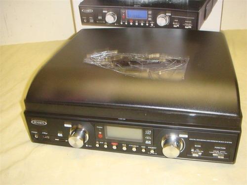 conversor de vinil para o formato mp3 - jensen jta-460