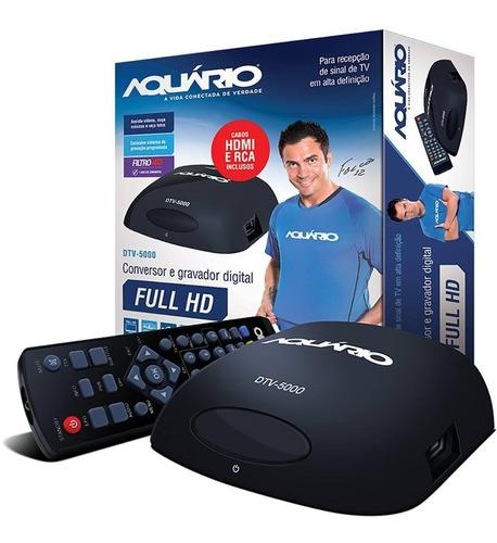 conversor digital aquário dtv 5000 gravador hdmi envio full