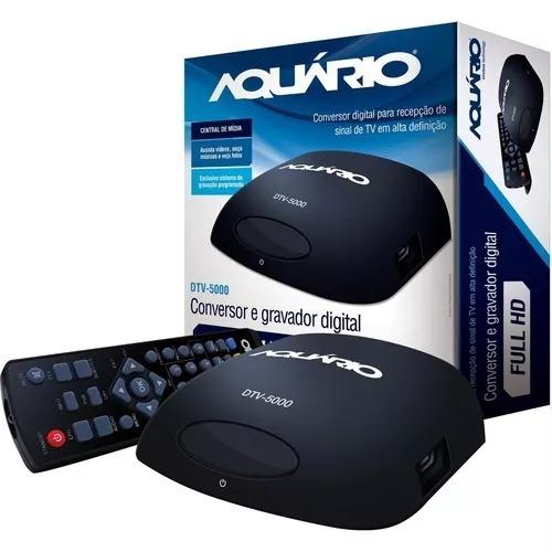 conversor digital dtv 5000 aquario para tv
